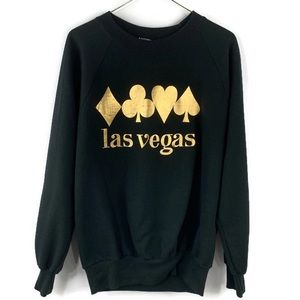 Vintage Anvil Las Vegas Black & Gold Sweatshirt